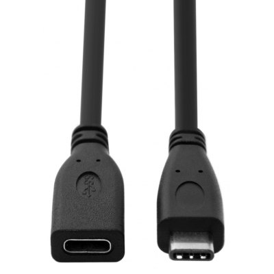 CY U3 - 218 - BK - 2.0M USB Type-C Male to Female Cable 2m