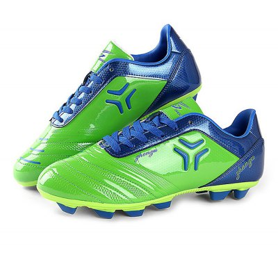 Male Professional Lace Up Light Texture Soccer Sneakers