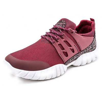Male Breathable Elastic Lace Up Split Joint Sports Shoes