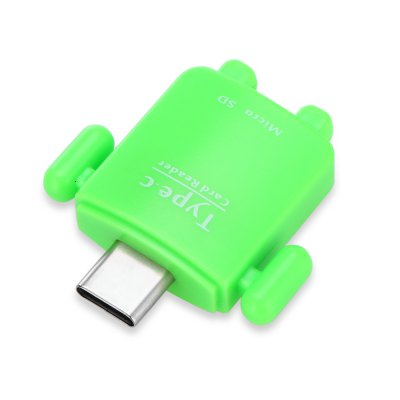695 USB Type-C to TF OTG Card Reader AdapterMemory Cards<br>695 USB Type-C to TF OTG Card Reader Adapter<br><br>Interface: Micro SD/TF, Type-C<br>Maximum Memory Supported: 32GB<br>Model: 695<br>Package Contents: 1 x 695 Card Reader<br>Package size (L x W x H): 8.00 x 5.00 x 1.60 cm / 3.15 x 1.97 x 0.63 inches<br>Package weight: 0.0700 kg<br>Product size (L x W x H): 3.70 x 3.30 x 0.60 cm / 1.46 x 1.3 x 0.24 inches<br>Product weight: 0.0500 kg<br>Reader Type: All in One<br>Supported Memory Cards: TF<br>Type: Card Reader