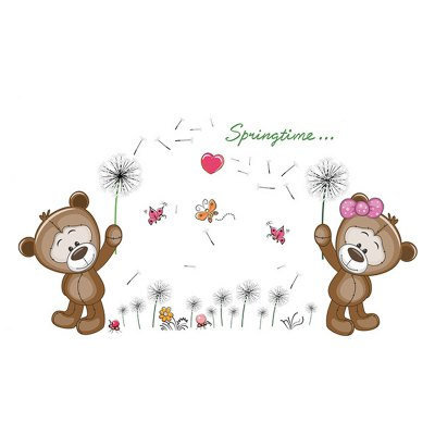 DSU DIY Bear Lovers Wall Sticker