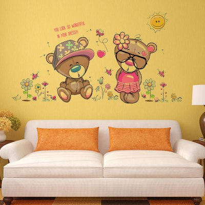DSU Creative Bear Lovers Wall Sticker WallpaperWall Stickers<br>DSU Creative Bear Lovers Wall Sticker Wallpaper<br><br>Brand: DSU<br>Functions: Decorative Wall Stickers, Height Stickers<br>Hang In/Stick On: Bedrooms,Kids Room,Living Rooms<br>Material: Vinyl(PVC), Self-adhesive Plastic<br>Package Contents: 1 x Sticker<br>Package size (L x W x H): 55.00 x 5.00 x 5.00 cm / 21.65 x 1.97 x 1.97 inches<br>Package weight: 0.1300 kg<br>Product size (L x W x H): 50.00 x 70.00 x 0.10 cm / 19.69 x 27.56 x 0.04 inches<br>Product weight: 0.0900 kg