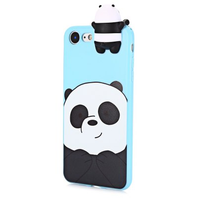 3D Solid Cartoon Panda Silicone Phone Case for iPhone 7