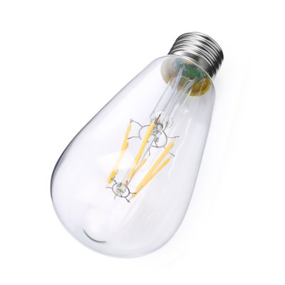 E27 ST64 6W 550 - 600Lm LED Filament BulbGlobe bulbs<br>E27 ST64 6W 550 - 600Lm LED Filament Bulb<br><br>Available Light Color: Warm White<br>Features: Energy Saving, Long Life Expectancy, Low Power Consumption<br>Function: Home Lighting, Commercial Lighting<br>Holder: E27<br>Luminous Flux: 550 - 600Lm<br>Output Power: 6W<br>Package Contents: 1 x LED Filament Bulb<br>Package size (L x W x H): 8.00 x 8.00 x 16.50 cm / 3.15 x 3.15 x 6.5 inches<br>Package weight: 0.1100 kg<br>Product size (L x W x H): 6.40 x 6.40 x 14.60 cm / 2.52 x 2.52 x 5.75 inches<br>Product weight: 0.0470 kg<br>Sheathing Material: Aluminum, Glass<br>Type: Ball Bulbs<br>Voltage (V): AC 85-265