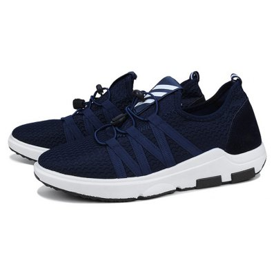 Male Breathable Lace Up Light Running Sneakers