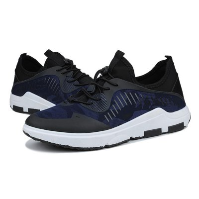 Male Athletic Mesh Anti Slip Light Running ShoesAthletic Shoes<br>Male Athletic Mesh Anti Slip Light Running Shoes<br><br>Closure Type: Lace-Up<br>Contents: 1 x Pair of Shoes<br>Function: Slip Resistant<br>Materials: Mesh, Rubber, Leather<br>Occasion: Sports, Outdoor Clothing, Holiday, Daily, Casual, Running<br>Outsole Material: Rubber<br>Package Size ( L x W x H ): 33.00 x 22.00 x 11.00 cm / 12.99 x 8.66 x 4.33 inches<br>Package Weights: 0.68kg<br>Seasons: Autumn,Spring<br>Style: Modern, Leisure, Fashion, Comfortable, Casual<br>Type: Sports Shoes<br>Upper Material: Leather,Mesh