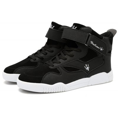Male Stylish Slip Resistance Stitching High Top Leisure Shoes