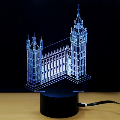 Bell Pattern Colorful LED Night Light  3D Lamp