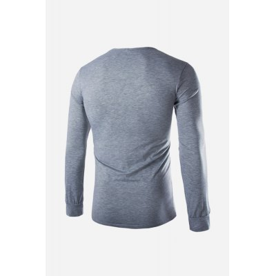 Male Slim Fit V-neck Long Sleeve T-shirtMens Long Sleeves Tees<br>Male Slim Fit V-neck Long Sleeve T-shirt<br><br>Neckline: V-Neck<br>Package Content: 1 x T-shirt<br>Package size: 35.00 x 25.00 x 2.00 cm / 13.78 x 9.84 x 0.79 inches<br>Package weight: 0.2600 kg<br>Product weight: 0.2200 kg<br>Season: Autumn<br>Sleeve Length: Long Sleeves<br>Style: Casual