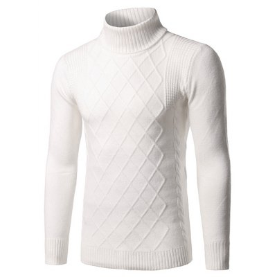 Pure Color Poloneck Knitted Sweater