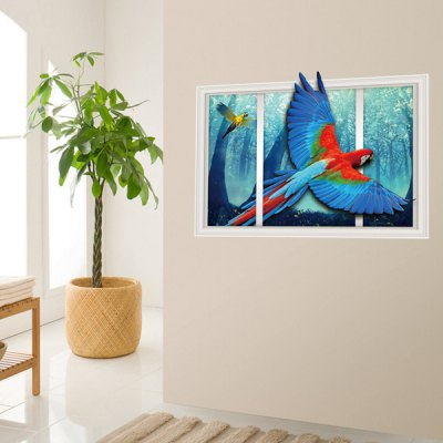 3D Color Parrot Wall StickerWall Stickers<br>3D Color Parrot Wall Sticker<br><br>Art Style: Plane Wall Stickers<br>Functions: Decorative Wall Stickers<br>Material: Vinyl(PVC)<br>Package Contents: 1 x Wall Sticker<br>Package size (L x W x H): 60.00 x 4.00 x 4.00 cm / 23.62 x 1.57 x 1.57 inches<br>Package weight: 0.2400 kg<br>Product size (L x W x H): 90.00 x 60.00 x 0.10 cm / 35.43 x 23.62 x 0.04 inches<br>Product weight: 0.1500 kg<br>Subjects: Animal