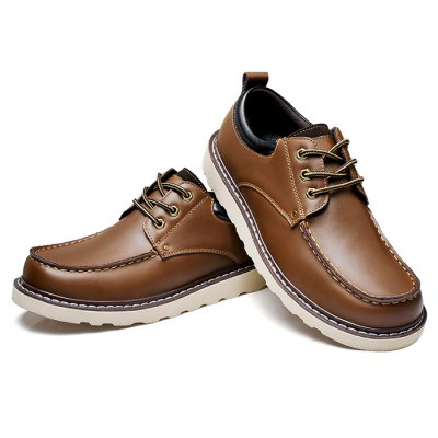 Male Leisure Soft Slip Resistance Stitching Leather ShoesFormal Shoes<br>Male Leisure Soft Slip Resistance Stitching Leather Shoes<br><br>Closure Type: Lace-Up<br>Contents: 1 x Pair of Shoes<br>Function: Slip Resistant<br>Materials: Rubber, Genuine Leather<br>Occasion: Tea Party, Shopping, Office, Formal, Daily, Casual, Party<br>Outsole Material: Rubber<br>Package Size ( L x W x H ): 33.00 x 24.00 x 13.00 cm / 12.99 x 9.45 x 5.12 inches<br>Package Weights: 1.02kg<br>Pattern Type: Solid<br>Seasons: Autumn,Spring<br>Style: Modern, Leisure, Fashion, Comfortable, Casual, Business<br>Toe Shape: Round Toe<br>Type: Casual Leather Shoes<br>Upper Material: Genuine Leather