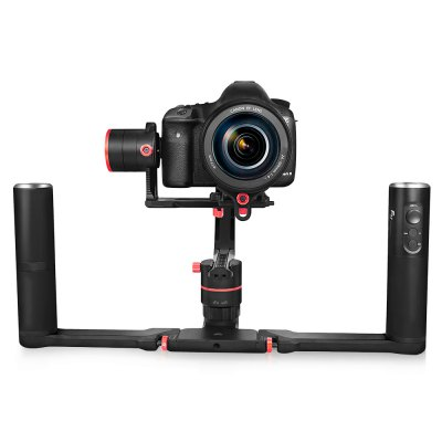FY FEIYUTECH a2000 3-axis Gimbal with Dual Handle GripGimbal<br>FY FEIYUTECH a2000 3-axis Gimbal with Dual Handle Grip<br><br>Brand: FY FEIYUTECH<br>Camera Gimbals: Brushless Gimbals<br>Compatible Camera: and cameras with similar dimensions,  other cameras in N-series,  SONY NEX - 5N / NEX - 7,  Panasonic LUMIX GH4 / GH5, Canon 5D Mark III ( with standard lens ); SONY A7RII / ILCE - 7R / ILCE - 5100;<br>FPV Equipments: Gimbal<br>Functions: Video<br>Max Payload: 2kg ( including the accessories of batteries, lens ect. )<br>Package Contents: 1 x Gimbal, 1 x Single Handle, 6 x 18650 Battery, 1 x 18650 Charger Box, 1 x Quick Attach Plate, 1 x Thumb Screw, 1 x Camera Holder, 1 x Camera Holder Screw, 1 x 1/4 inch Screw, 1 x Mini Tripod, 1 x C<br>Package size (L x W x H): 27.30 x 27.30 x 14.00 cm / 10.75 x 10.75 x 5.51 inches<br>Package weight: 2.2300 kg<br>Product size (L x W x H): 17.60 x 37.60 x 21.90 cm / 6.93 x 14.8 x 8.62 inches<br>Product weight: 1.1114 kg<br>Type: 3 Axis<br>Waterproof / Water-Resistant: No