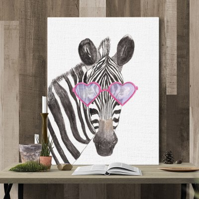 Modern Print Zebra Head Wall Decor for Home Decoration