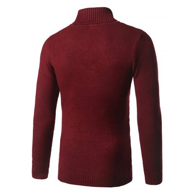 Pure Color Poloneck Knitted SweaterMens Sweaters &amp; Cardigans<br>Pure Color Poloneck Knitted Sweater<br><br>Package Contents: 1 x Sweater<br>Package size: 20.00 x 20.00 x 2.00 cm / 7.87 x 7.87 x 0.79 inches<br>Package weight: 0.4400 kg<br>Product weight: 0.4000 kg