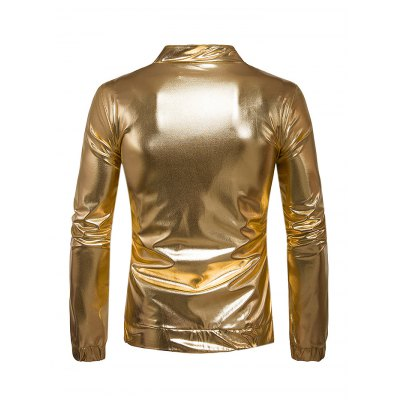 Male Fashionable Bright JacketMens Jackets &amp; Coats<br>Male Fashionable Bright Jacket<br><br>Closure Type: Zipper<br>Clothes Type: Jackets<br>Embellishment: Zippers<br>Materials: Polyester<br>Package Content: 1 x Jacket<br>Package Dimension: 35.00 x 25.00 x 2.00 cm / 13.78 x 9.84 x 0.79 inches<br>Package weight: 0.5300 kg<br>Pattern Type: Solid<br>Product weight: 0.4500 kg<br>Seasons: Autumn<br>Shirt Length: Regular<br>Sleeve Length: Long Sleeves<br>Style: Fashion, Casual<br>Thickness: Thin