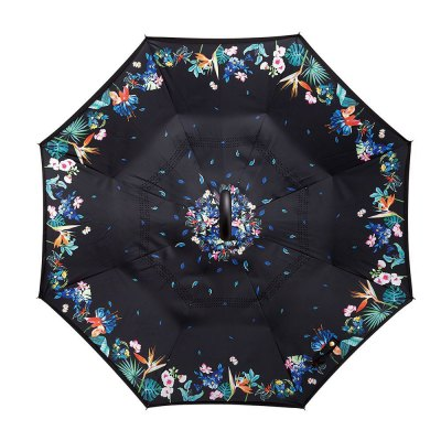 Floral Print Windproof Inverted Double-layer UmbrellaUmbrella &amp; Raincoats<br>Floral Print Windproof Inverted Double-layer Umbrella<br><br>Package Contents: 1 x Umbrella<br>Package Size(L x W x H): 84.00 x 8.00 x 8.00 cm / 33.07 x 3.15 x 3.15 inches<br>Package weight: 0.6060 kg<br>Product size (L x W x H): 80.00 x 7.00 x 7.00 cm / 31.5 x 2.76 x 2.76 inches<br>Product weight: 0.5160 kg