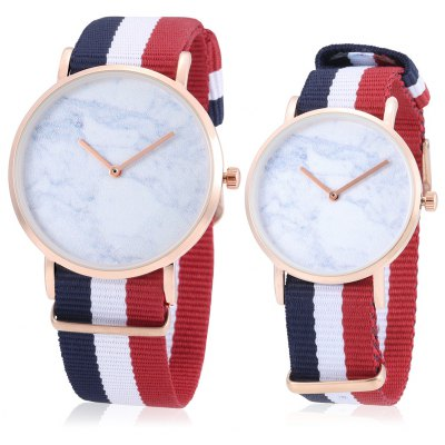 CAGARNY Quartz Couple Watches with Nylon Band
