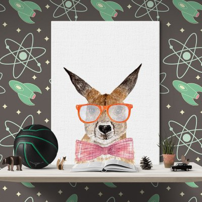 Modern Print Rabbit Wall Decor for Home DecorationPrints<br>Modern Print Rabbit Wall Decor for Home Decoration<br><br>Craft: Print<br>Form: One Panel<br>Material: Canvas<br>Package size (L x W x H): 32.00 x 6.00 x 6.00 cm / 12.6 x 2.36 x 2.36 inches<br>Package weight: 0.1000 kg<br>Painting: Without Inner Frame<br>Product size (L x W x H): 30.00 x 40.00 x 0.10 cm / 11.81 x 15.75 x 0.04 inches<br>Product weight: 0.0400 kg<br>Shape: Horizontal<br>Style: Modern<br>Subjects: Animal<br>Suitable Space: Bedroom,Dining Room,Living Room