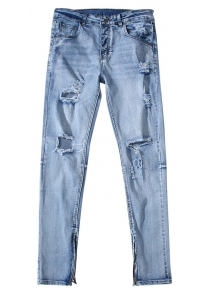 High Resilience Ripped Trousers