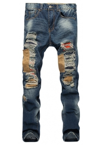 Casual Ripped Slim Straight Jeans