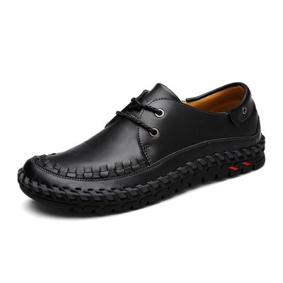 Male Casual Business Anti Slip Lace Up Soft Leather ShoesMen's Oxford<br>Male Casual Business Anti Slip Lace Up Soft Leather Shoes<br><br>Closure Type: Lace-Up<br>Contents: 1 x Pair of Shoes<br>Decoration: Weave<br>Function: Slip Resistant<br>Materials: Rubber, Leather<br>Occasion: Tea Party, Party, Office, Casual, Shopping, Daily, Holiday<br>Outsole Material: Rubber<br>Package Size ( L x W x H ): 33.00 x 22.00 x 11.00 cm / 12.99 x 8.66 x 4.33 inches<br>Package Weights: 0.97kg<br>Pattern Type: Solid<br>Seasons: Autumn,Spring<br>Style: Modern, Leisure, Fashion, Comfortable, Casual, Business<br>Toe Shape: Round Toe<br>Type: Casual Leather Shoes<br>Upper Material: Leather