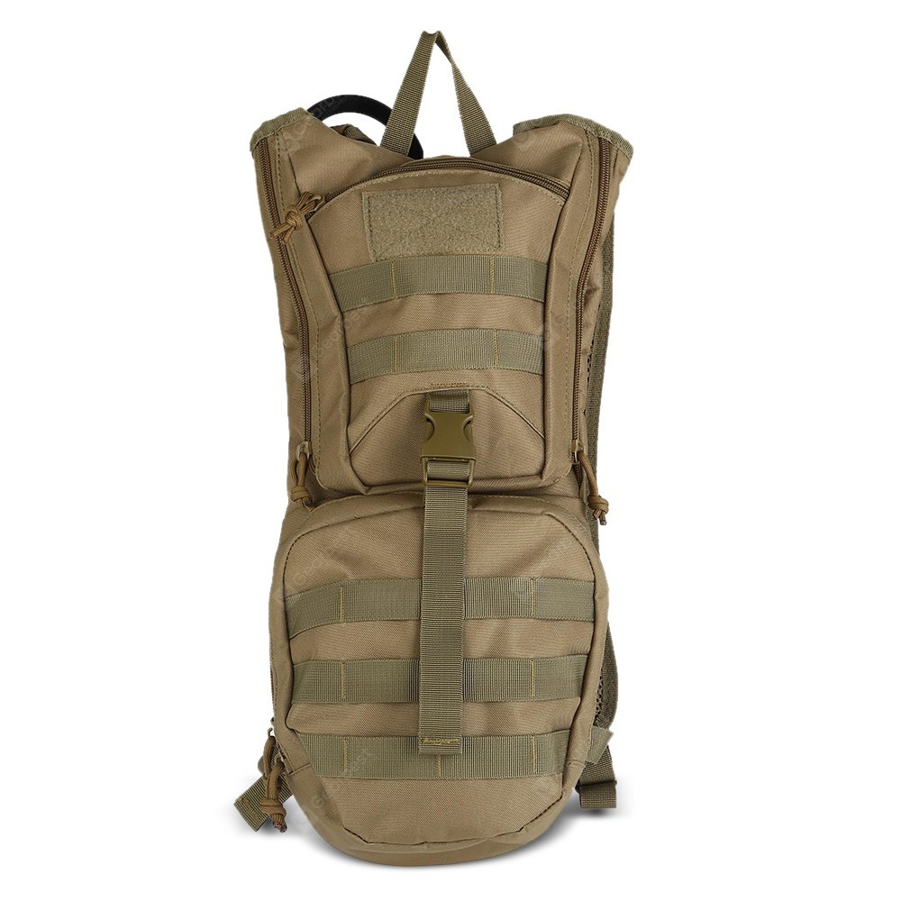Tactical Hydration Pack Backpack 2L Water Bladder KHAKI