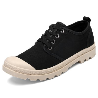 Male Solid Color Canvas Anti Slip Leisure ShoesCasual Shoes<br>Male Solid Color Canvas Anti Slip Leisure Shoes<br><br>Closure Type: Lace-Up<br>Contents: 1 x Pair of Shoes<br>Function: Slip Resistant<br>Materials: Rubber, Canvas<br>Occasion: Tea Party, Shopping, Outdoor Clothing, Office, Party, Casual, Daily, Holiday<br>Outsole Material: Rubber<br>Package Size ( L x W x H ): 33.00 x 22.00 x 11.00 cm / 12.99 x 8.66 x 4.33 inches<br>Package Weights: 0.82kg<br>Pattern Type: Solid<br>Seasons: Autumn,Spring<br>Style: Modern, Leisure, Fashion, Comfortable, Casual<br>Toe Shape: Round Toe<br>Type: Casual Shoes<br>Upper Material: Canvas