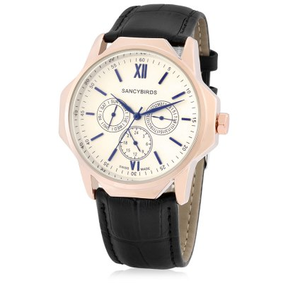 Sancybirds FY9813IW Quartz Men WatchMens Watches<br>Sancybirds FY9813IW Quartz Men Watch<br><br>Band material: Genuine Leather<br>Brand: SANCYBIRDS<br>Case material: Alloy<br>Clasp type: Pin buckle<br>Display type: Analog<br>Hour formats: 12 Hour<br>Movement type: Quartz watch<br>Package Contents: 1 x Watch, 1 x Box<br>Package size (L x W x H): 33.00 x 13.70 x 7.20 cm / 12.99 x 5.39 x 2.83 inches<br>Package weight: 0.2200 kg<br>Product size (L x W x H): 24.00 x 4.70 x 1.20 cm / 9.45 x 1.85 x 0.47 inches<br>Product weight: 0.0750 kg<br>The band width: 2cm<br>The dial diameter: 4.7cm<br>The dial thickness: 1.2cm<br>Watches categories: Men<br>Water resistance : 30 meters<br>Wearable length: 17.3 - 21.5cm