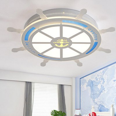 Boat Rudder Child Room LED Ceiling Lamp 220VFlush Ceiling Lights<br>Boat Rudder Child Room LED Ceiling Lamp 220V<br><br>Beam Angle: 360 degree<br>Features: Remote-Controlled<br>Illumination Field: 10 - 15sqm<br>LED Number : 48<br>Luminous Flux: 3600LM<br>Optional Light Color: Cold White,Warm White<br>Package Contents: 1 x Light, 1 x Assembly Parts, 1 x Remote Control<br>Package size (L x W x H): 75.00 x 75.00 x 5.00 cm / 29.53 x 29.53 x 1.97 inches<br>Package weight: 7.0300 kg<br>Product size (L x W x H): 65.00 x 65.00 x 4.50 cm / 25.59 x 25.59 x 1.77 inches<br>Product weight: 6.0000 kg<br>Sheathing Material: Acrylic<br>Type: Ceiling Lights<br>Voltage (V): 220V<br>Wattage (W): 36W<br>Wavelength / CCT: 3000K,4200K,6500K