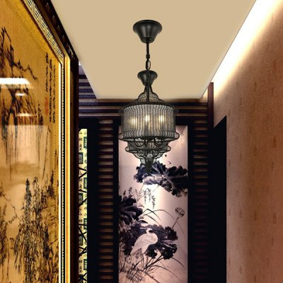 New Chinese Classical Iron Bird Cage Chandelier 220VPendant Light<br>New Chinese Classical Iron Bird Cage Chandelier 220V<br><br>Battery Included: No<br>Bulb Base: E27<br>Bulb Included: No<br>Chain / Cord Adjustable or Not: Chain / Cord Adjustable<br>Chain / Cord Length ( CM ): 100cm<br>Features: Eye Protection<br>Fixture Height ( CM ): 34cm<br>Fixture Length ( CM ): 50cm<br>Fixture Width ( CM ): 50cm<br>Light Direction: Downlight<br>Light Source Color: Warm White<br>Number of Bulb: 5 Bulbs<br>Number of Bulb Sockets: 5<br>Package Contents: 1 x Light, 1 x Assembly Parts<br>Package size (L x W x H): 60.00 x 60.00 x 40.00 cm / 23.62 x 23.62 x 15.75 inches<br>Package weight: 7.0300 kg<br>Product weight: 6.0000 kg<br>Remote Control Supported: No<br>Shade Material: Iron<br>Style: Modern/Contemporary<br>Suggested Room Size: 10 - 15?<br>Suggested Space Fit: Bedroom,Dining Room,Kitchen,Living Room,Study Room<br>Type: Chandeliers<br>Voltage ( V ): AC220
