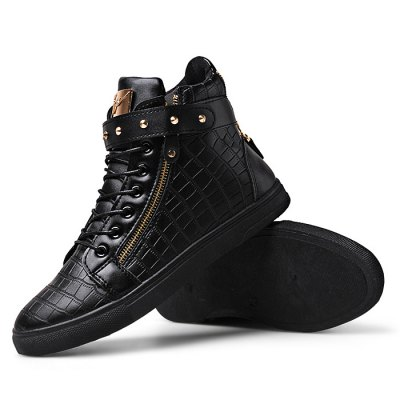 Male Stylish Soft Zipper Buckle Strap Lace Up Leisure BootsCasual Shoes<br>Male Stylish Soft Zipper Buckle Strap Lace Up Leisure Boots<br><br>Closure Type: Lace-Up, Buckle Strap, Zip<br>Contents: 1 x Pair of Shoes<br>Decoration: Zippers<br>Function: Slip Resistant<br>Materials: PU, Rubber<br>Occasion: Casual, Shopping, Tea Party, Party, Office, Holiday, Daily<br>Package Size ( L x W x H ): 33.00 x 24.00 x 13.00 cm / 12.99 x 9.45 x 5.12 inches<br>Package Weights: 0.97kg<br>Pattern Type: Solid<br>Seasons: Autumn,Spring<br>Style: Modern, Leisure, Fashion, Comfortable, Casual<br>Type: Boots<br>Upper Material: PU