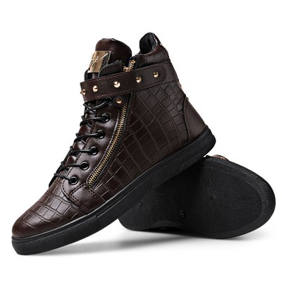 Male Stylish Soft Zipper Buckle Strap Lace Up Leisure BootsCasual Shoes<br>Male Stylish Soft Zipper Buckle Strap Lace Up Leisure Boots<br><br>Closure Type: Buckle Strap, Buckle Strap, Lace-Up, Lace-Up, Zip, Zip<br>Contents: 1 x Pair of Shoes, 1 x Pair of Shoes<br>Decoration: Zippers, Zippers<br>Function: Slip Resistant, Slip Resistant<br>Materials: Rubber, PU<br>Occasion: Tea Party, Shopping, Party, Casual, Office, Holiday, Daily<br>Package Size ( L x W x H ): 33.00 x 24.00 x 13.00 cm / 12.99 x 9.45 x 5.12 inches, 33.00 x 24.00 x 13.00 cm / 12.99 x 9.45 x 5.12 inches<br>Package Weights: 0.97kg, 0.97kg<br>Pattern Type: Solid<br>Seasons: Autumn,Spring<br>Style: Modern, Modern, Leisure, Fashion, Comfortable, Casual, Leisure<br>Type: Boots<br>Upper Material: PU, PU