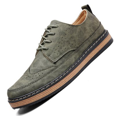 Male Breathable Casual Lace Up Retro Leather ShoesCasual Shoes<br>Male Breathable Casual Lace Up Retro Leather Shoes<br><br>Closure Type: Lace-Up<br>Contents: 1 x Pair of Shoes<br>Function: Slip Resistant<br>Materials: Rubber, Leather<br>Occasion: Tea Party, Shopping, Office, Holiday, Daily, Casual, Party<br>Outsole Material: Rubber<br>Package Size ( L x W x H ): 33.00 x 24.00 x 13.00 cm / 12.99 x 9.45 x 5.12 inches<br>Package Weights: 0.92kg<br>Pattern Type: Solid<br>Seasons: Autumn,Spring<br>Style: Modern, Leisure, Fashion, Comfortable, Casual, Business<br>Toe Shape: Round Toe<br>Type: Casual Leather Shoes<br>Upper Material: Leather