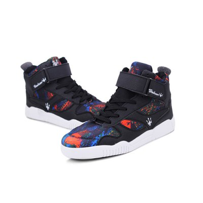 Male Breathable Mesh Elastic High Top Leisure ShoesCasual Shoes<br>Male Breathable Mesh Elastic High Top Leisure Shoes<br><br>Closure Type: Lace-Up<br>Contents: 1 x Pair of Shoes<br>Function: Slip Resistant<br>Lining Material: Mesh<br>Materials: PU, Rubber, Mesh<br>Occasion: Tea Party, Party, Outdoor Clothing, Holiday, Daily, Casual, Shopping<br>Outsole Material: Rubber<br>Package Size ( L x W x H ): 31.00 x 21.00 x 11.00 cm / 12.2 x 8.27 x 4.33 inches<br>Package Weights: 0.93kg<br>Seasons: Autumn,Spring<br>Style: Modern, Leisure, Fashion, Comfortable, Casual<br>Toe Shape: Round Toe<br>Type: Casual Shoes<br>Upper Material: PU