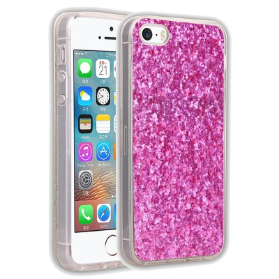 ASLING TPU Glitter Back Cover Case for iPhone 5 / 5S / SE glitter powder imd tpu back case for iphone 7 black butterfly