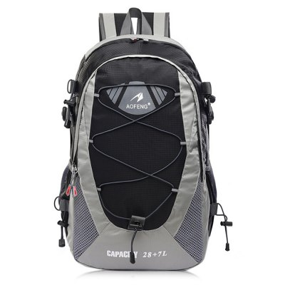 AOFENG Men Chic Outdoor Multifunctional BackpackBackpacks<br>AOFENG Men Chic Outdoor Multifunctional Backpack<br><br>Brand: AOFENG<br>Features: Wearable<br>Gender: Men<br>Material: Polyester, Nylon<br>Package Size(L x W x H): 52.00 x 30.00 x 2.00 cm / 20.47 x 11.81 x 0.79 inches<br>Package weight: 0.7400 kg<br>Packing List: 1 x AOFENG Backpack<br>Product weight: 0.6900 kg<br>Style: Fashion, Casual<br>Type: Backpacks