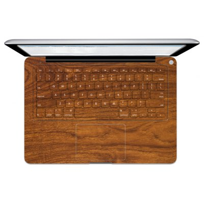 Wood Texture Pattern Overall Laptop Keyboard Sticker
