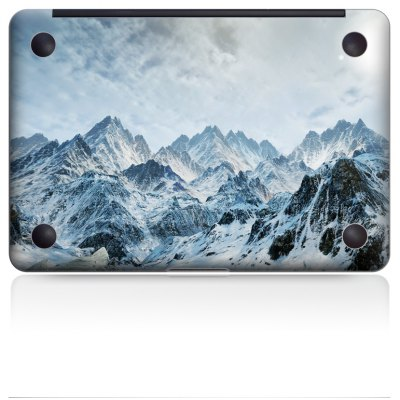 Snow Mountains Image Overall Laptop Bottom Skin