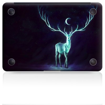 Glowing Deer Picture Overall Laptop Bottom Skin