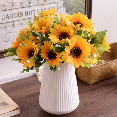 Decorative Silk Sunflower Artificial Flower Bouquet