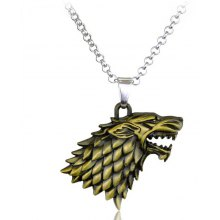 Wolf Head Style Alloy Necklace