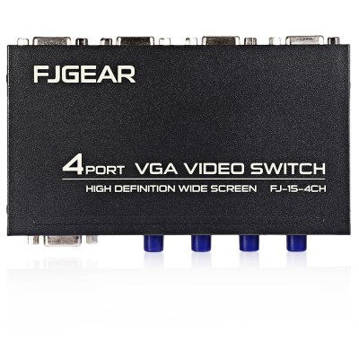 VGA Switch Switcher 4 - Input 1 - Output Sharing Device