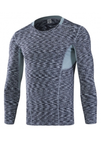 Tight Sports Elastic Quick Dry Long Sleeves Tee for Men