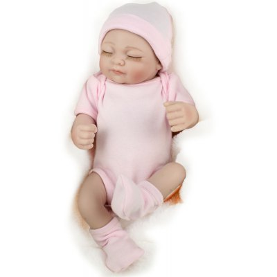 Cute Sleeping Silicone Infant Realistic Baby Doll