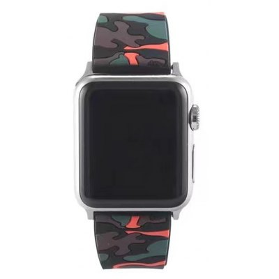 Camouflage Silicone Watchband for 42mm Apple Watch