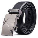 Western Style Business Trouser Belt with Alloy Buckle for Men