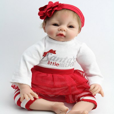 Simulation Silicone Infant Realistic Baby Girl Doll Toy