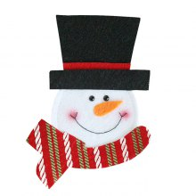 Adorable Snowman Fork Knife Cover for Flatware Decoration
