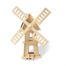 Solar Windmill W120 Jigsaw Puzzle Building Blocks Environmental DIY Toy